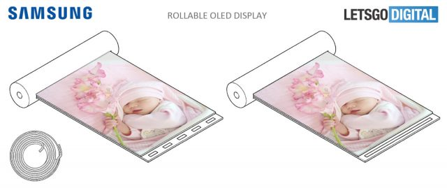 Samsung Patents A Cylindrical Scroll-like Device With Rollable Display