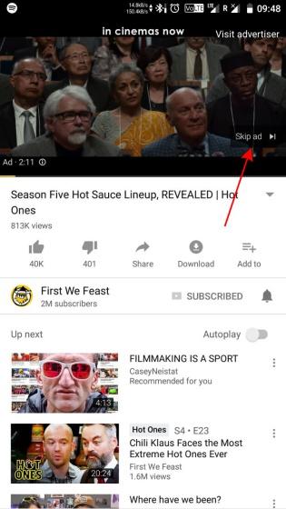 youtube ads skip