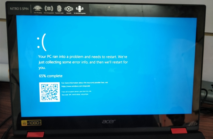 Acer Nitro 5 Spin BSOD
