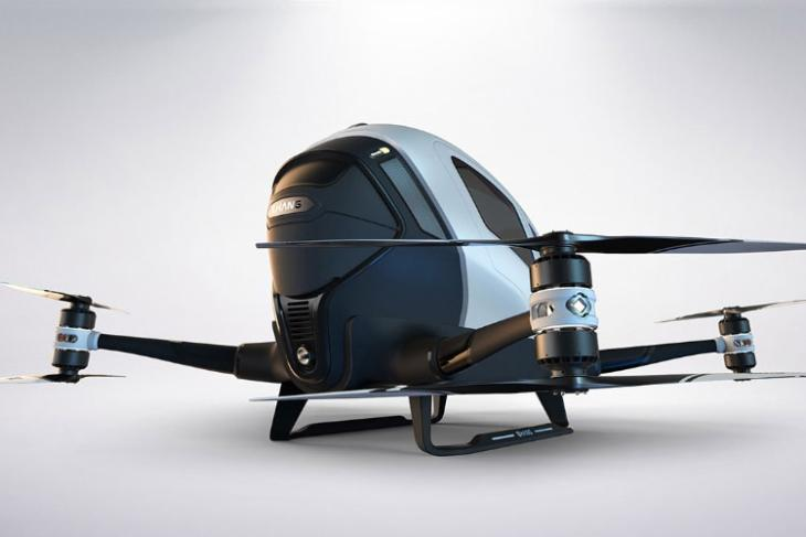 Ehang Releases Footage of First Test Flight of Its Passenger-Carrying Drones