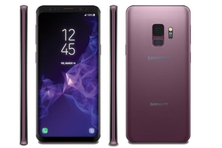 Galaxy S9 and S9+ Renders Leaks in Lilac Pink, Full Color Palette Revealed
