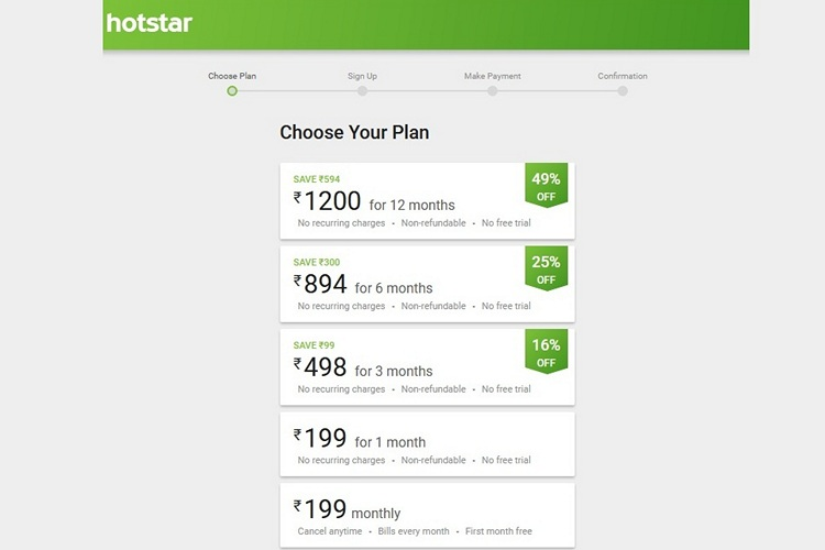 Hotstar Discounts Premium Annual Subscription Plan to ₹1,200