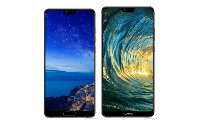 Alleged Renders of the huawei P20 and P20 Plus [Source - iChangezone Weibo]