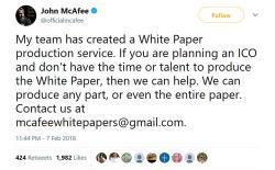 McAfee tweet