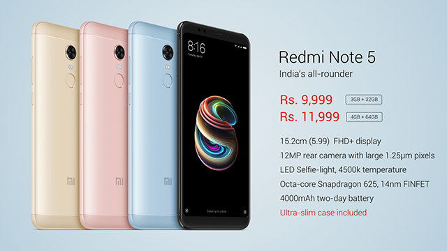 Redmi Note 5 Specs And Pricing