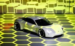 FILE PHOTO: The new electric Porsche Mission E concept car is presented during the Volkswagen group night ahead of the Frankfurt Motor Show (IAA) in Frankfurt