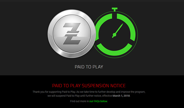 Razer Paid to Play Suspension