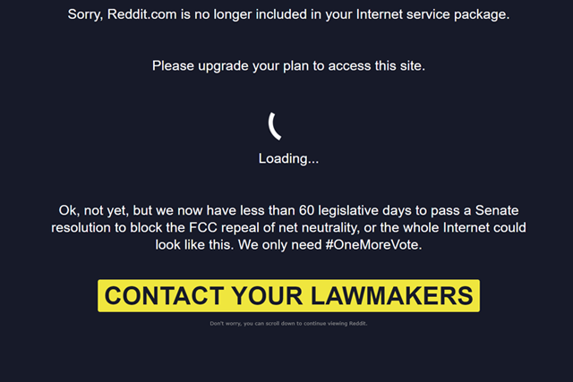 Reddit Joins Final Battle to Save Net Neutrality in US With #OneMoreVote Campaign