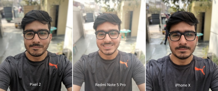 Redmi Note 5 Pro Front Camera Portrait Comparison