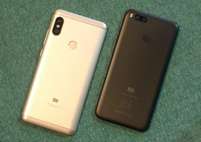 Redmi Note 5 Pro v Mi A1 Design