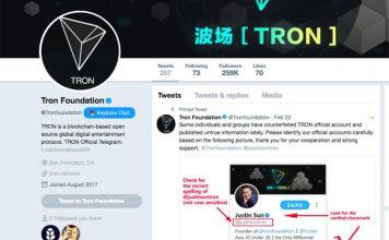 Tronfoundation Fake Account