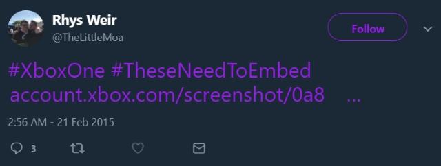 Twitter no Attachment Xbox One