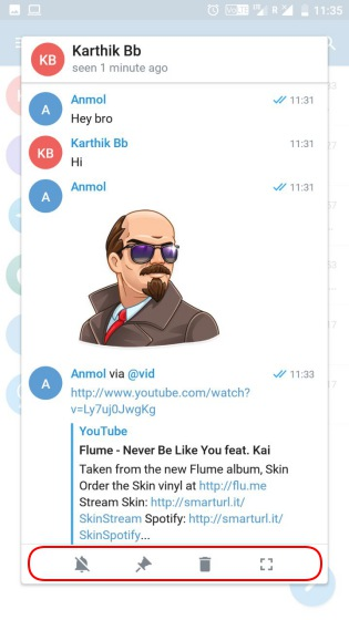 telegram x chat previews