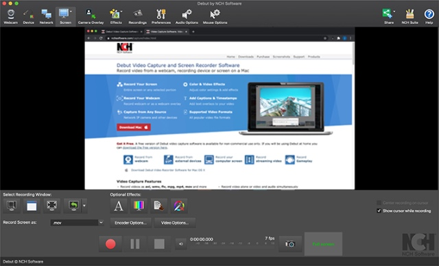 debut video recorder best webcam software windows 10 pc
