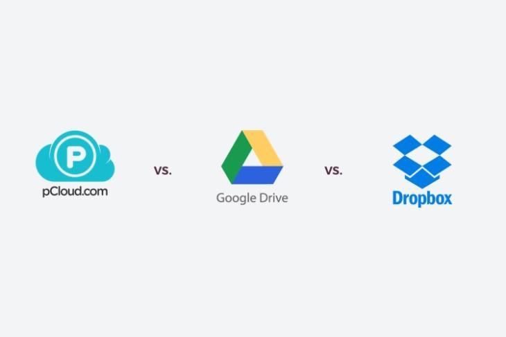 pCloud vs Google Drive vs DropBox