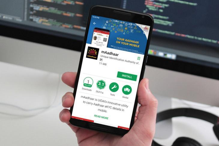 mAadhaar Featured website