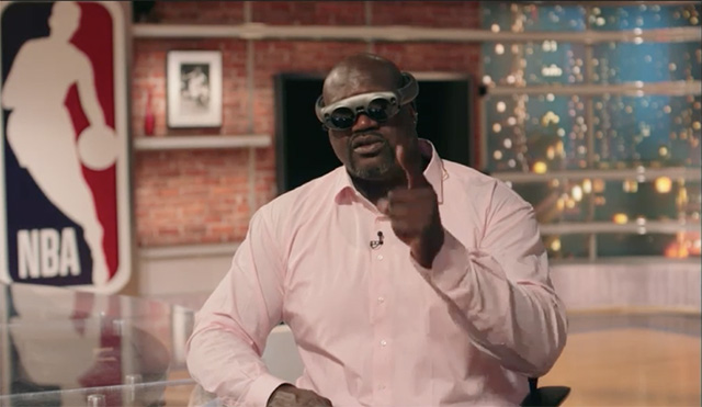 NBA Legend Shaquille o'Neal wearing Magic Leap's glasses