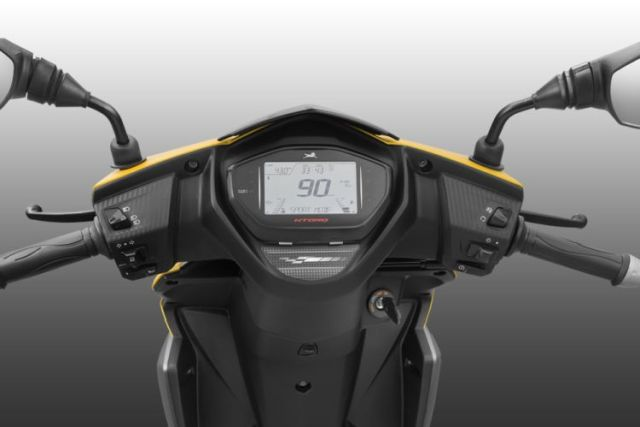 TVS Ntorq 125 features an LCD to display useful ride info