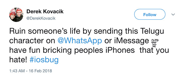 People Need to Stop Using the Telugu Character to Crash iPhones