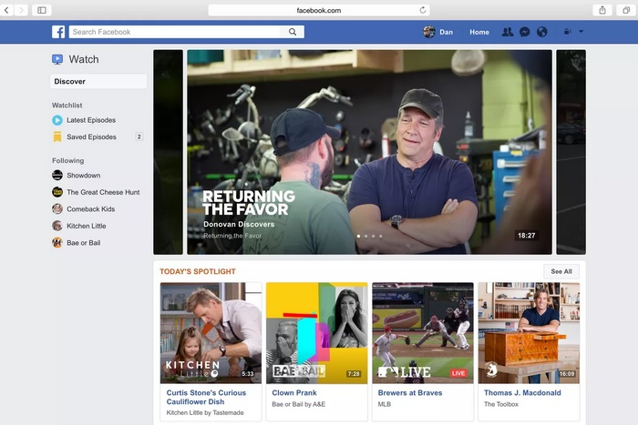 Facebook to Add a News Section to Facebook Watch at the Expense of News Feed