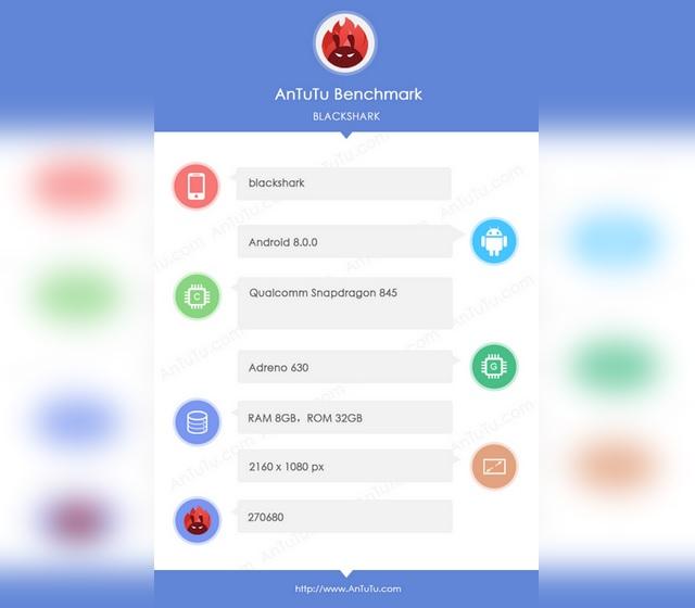 Xiaomi-Backed 'BlackShark' Smartphone Spotted on AnTuTu