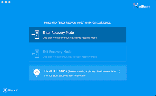 1 - enter and exit recovery mode