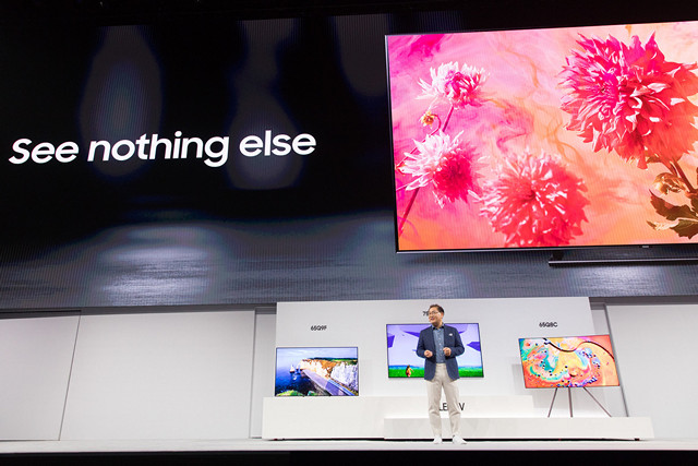 Samsung Unveils 2018 QLED TV Lineup With Bixby And SmartThings Focus