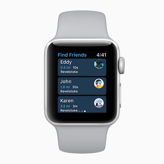 Apple Watch Series find friends