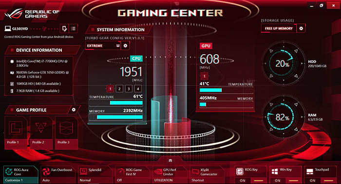 Asus GL503VD ROG Gaming Center