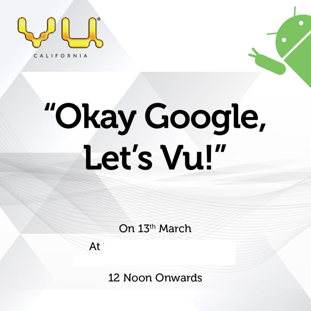 Vu Hints At Android TVs With Google Assistant; Coming to India on March 13