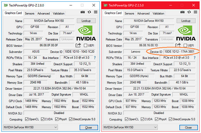 Some Ultrabooks Have A Slower Nvidia GeForce MX150 GPU: Here's How to Check