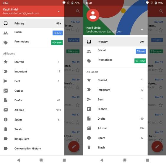 Gmail Go vs Gmail