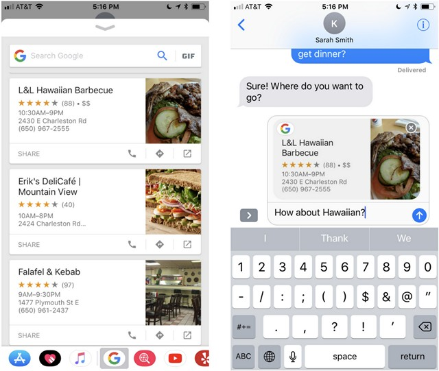 Google App on iOS Now Comes With iMessage Extension, Drag and Drop Support and More