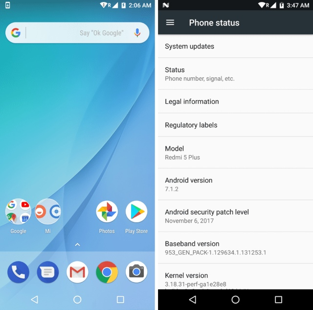 Redmi Note 5 Stock Android ROM