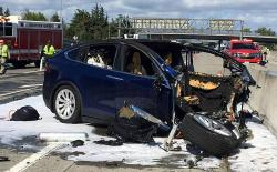 Tesla Model X crash March 2018 website