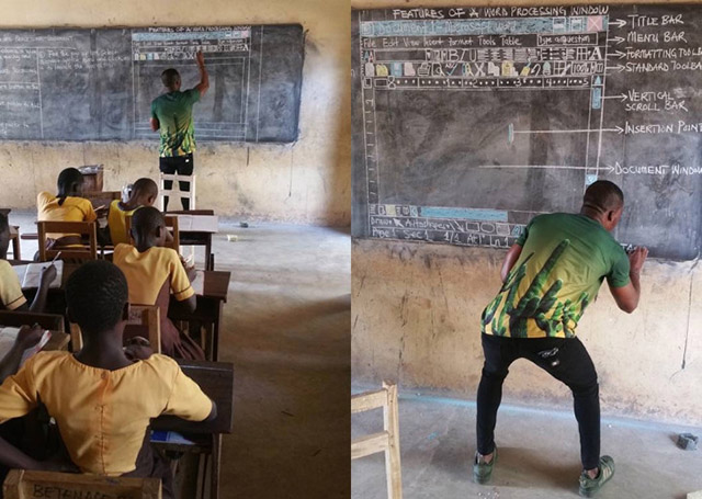 Ghana Schoolteacher Who Taught Computers Using Blackboard Lauded by Microsoft, And Other Institutions