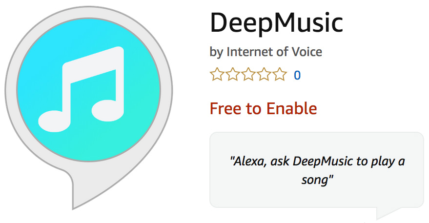 DeepMusic is an Alexa Skill that Plays Music Generated by AI