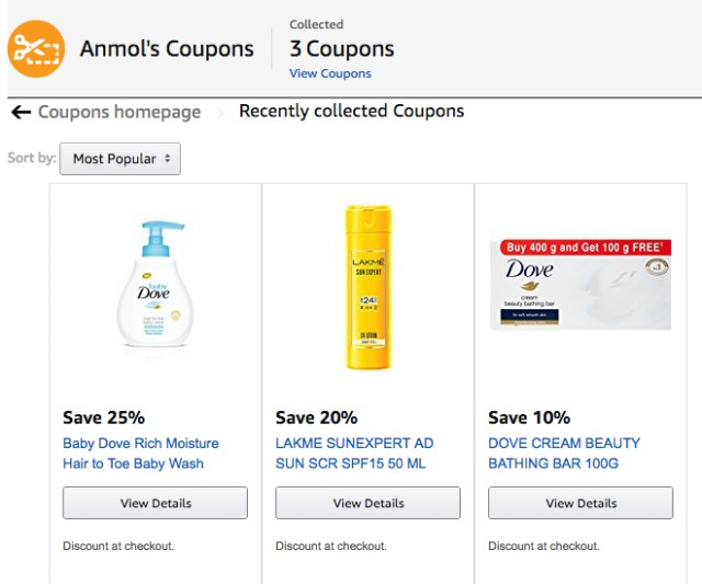 Amazon India Introduces Coupons For Hassle-Free Savings on Checkout
