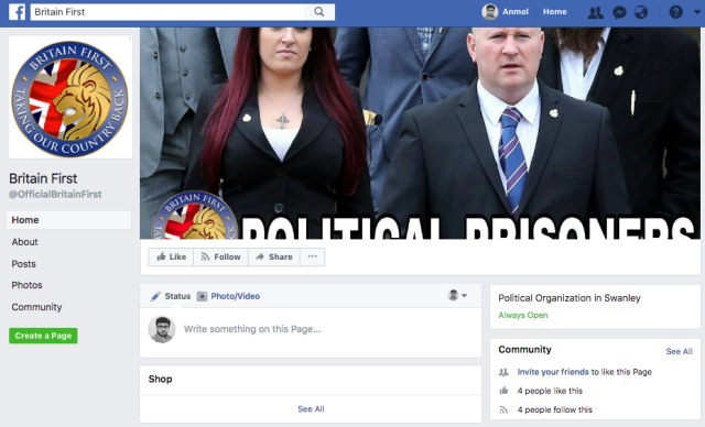 facebook britain first