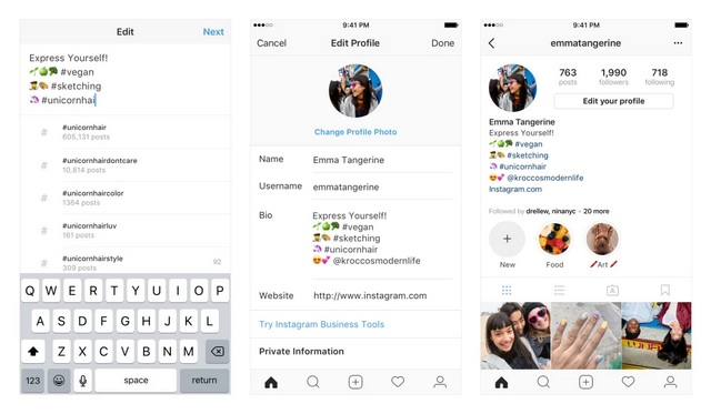 You Can Now Add Hashtags, Profile Links to Your Instagram Bio