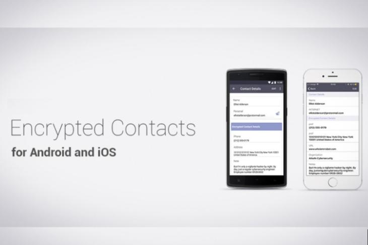 protonmail encrypted contacts featured