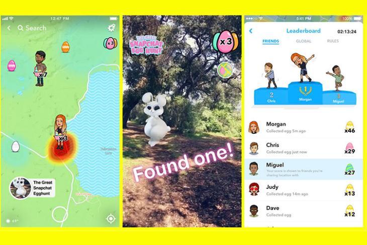 snapchat easter egg hunt featured website