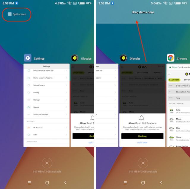 split screen multi tasking 1