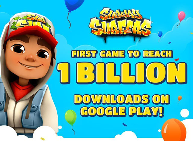 Subway Surfers is First Android Game to Clock One Billion Downloads on Play Store
