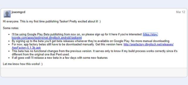 Tasker Enters Google Play Beta Program With New Update