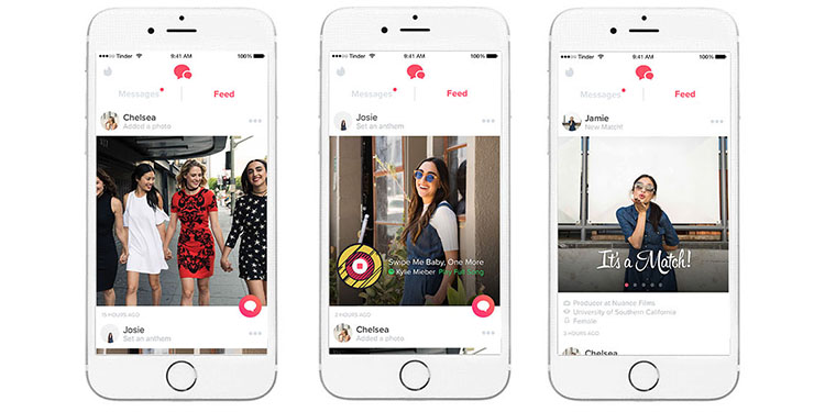 Tinder Will Now Show Updates From Matches in a Facebook-Like Feed