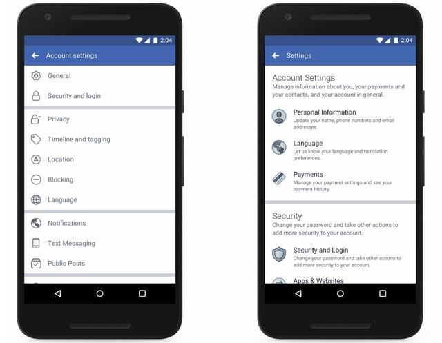 Facebook Revamps Settings Section; Improves Accessibility and Adds Privacy Shortcuts Menu