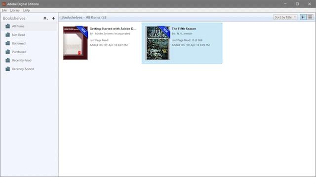 2. Adobe Digital Editions