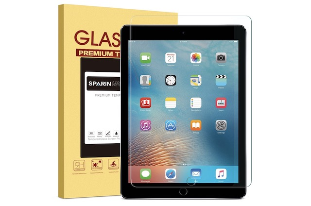 2. SPARIN Tempered Glass Screen Protector for iPad 2018