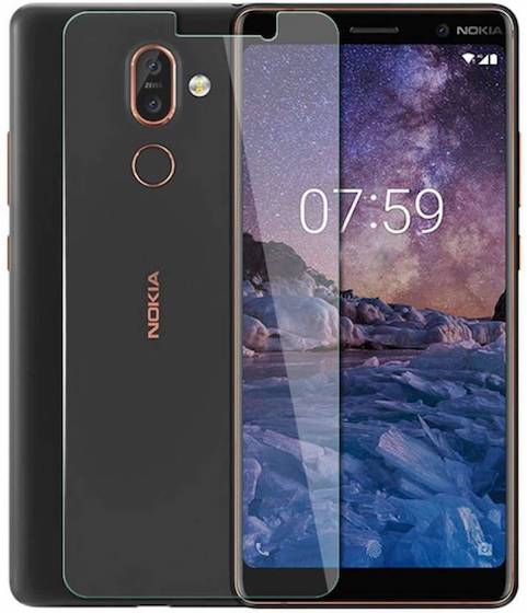 6. NaturalBuy Tempered Glass Guard for Nokia 7 Plus